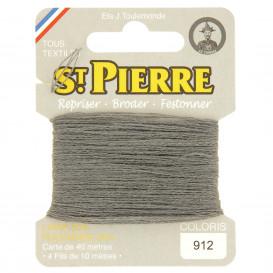 fils à repriser Saint Pierre gris marengo n°912