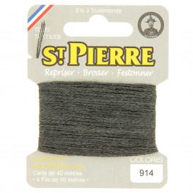 fils à repriser Saint Pierre gris taupe n°914