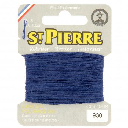 fils à repriser Saint Pierre bleu jaspé n°930