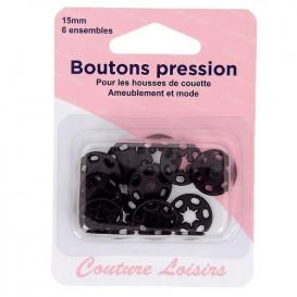 boutons pression plastique 15mm