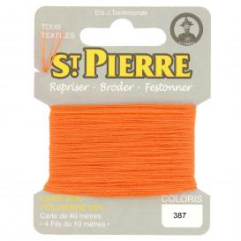fils à repriser Saint Pierre orange n°387