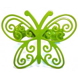 pinces déco papillon en métal x2