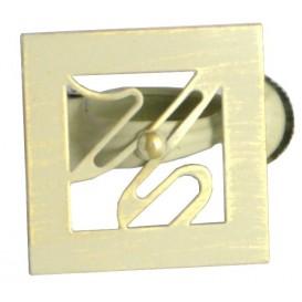 pince métal arabesque carrée x2