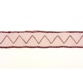 ruban organza zigzag 20mm au mètre