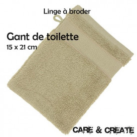 Gant de toilette à broder 15x21 cm