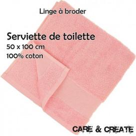 Serviette de toilette à broder 50x100 cm