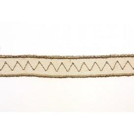 ruban organza zigzag 12mm au mètre