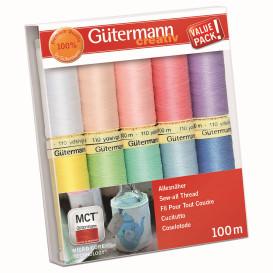 Set de 10 fils à coudre polyester Gütermann n°2