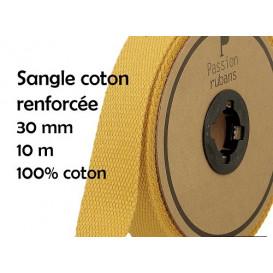 sangle coton renforcée 30mm à la bobine de 10m