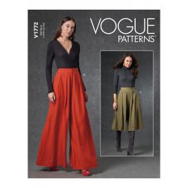 patron pantalon très ample Vogue V1772