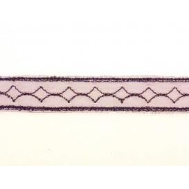 ruban organza frise 13mm au mètre