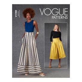 patron pantalons à taille haute Vogue V1789