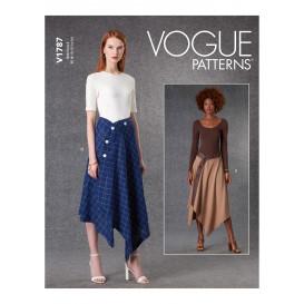 patron jupe portefeuille Vogue V1787