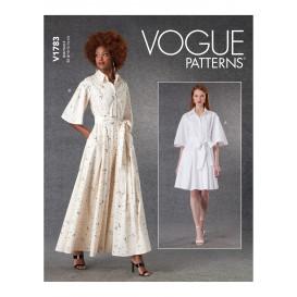 patron robe et ceinture Vogue V1783