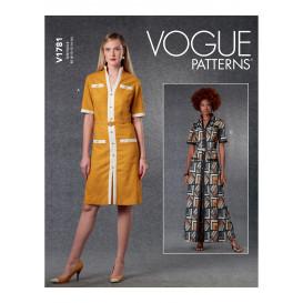 patron robe et ceinture Vogue V1781