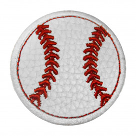écusson balle de baseball simili cuir 5,4cm thermocollant