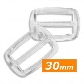 boucle coulissante plastique transparent 30mm