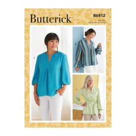 patron haut, tunique et ceinture Butterick B6812