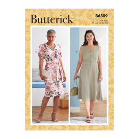 patron robe, ceinture Butterick B6809