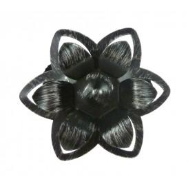 pince métal fleurs relief x2