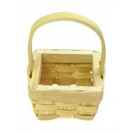 panier copeaux de bois carrée