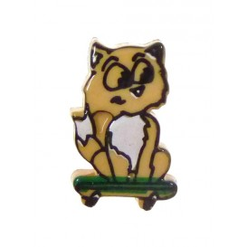 bouton enfant renard skate
