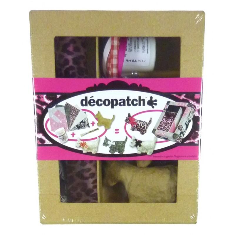 Kit decopatch chiens scottish en papier mach for Decopatch papier
