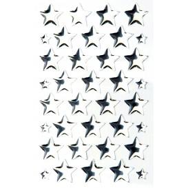 stickers crystal étoiles argent 20 pcs