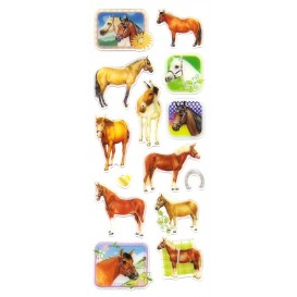 stickers chevaux 14 pcs