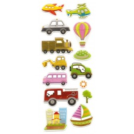 stickers voitures 16 pcs