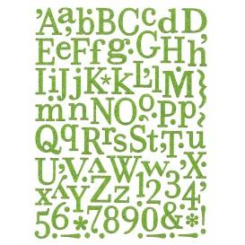 stickers alphabet vert