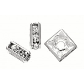 5 perles anneaux carrée