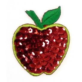 emblème paillettes pomme