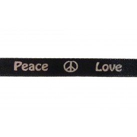 "ruban satin ""peace & love"""