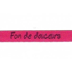 "ruban satin ""fan de douceurs"""