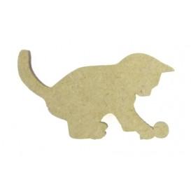 sujet en bois chaton