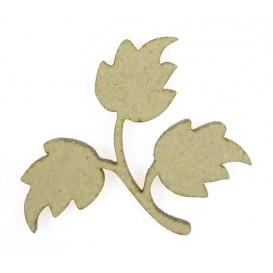 sujet en bois branche feuilles d'érable