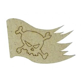 sujet en bois fanion du pirate
