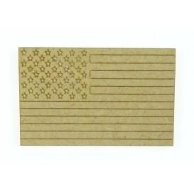 sujet en bois drapeau usa