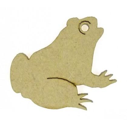 sujet en bois grenouille