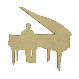 sujet en bois piano