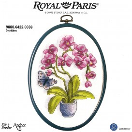 kit cadre ovale orchidées