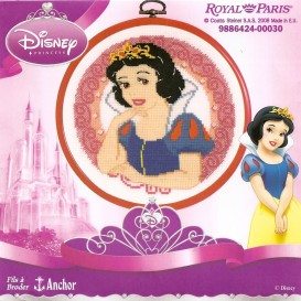 kit cadre rond blanche neige