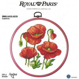 kit cadre rond coquelicots