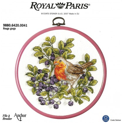 kit cadre rond rouge gorge