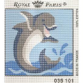 kit canevas dauphin gros trous