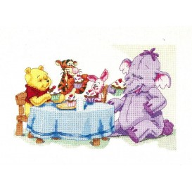 Kit broderie points comptés winnie 27x41cm