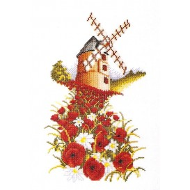 Kit broderie points comptés moulin 28x18cm