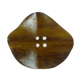bouton bois irrégulier 4 faces creuses 50mm