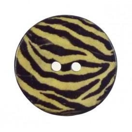bouton coco imprimé zèbre 30mm